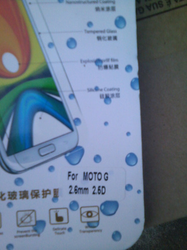 película protetora de vidro temp celular moto g 1 motorola