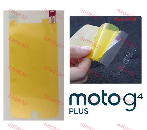 película silicone gel cobre tela toda motorola moto g4 plus