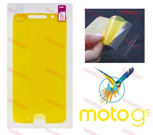 película silicone gel cobre tela toda motorola moto g5 2017