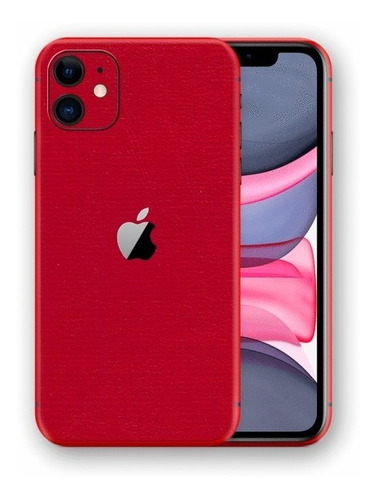 película skin iphone 11 (6.1) kingshield 3d couro-vermelho