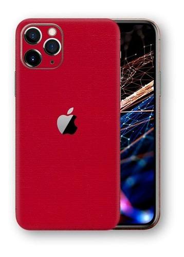 película skin iphone 11 pro max kingshield 3d couro-vermelho