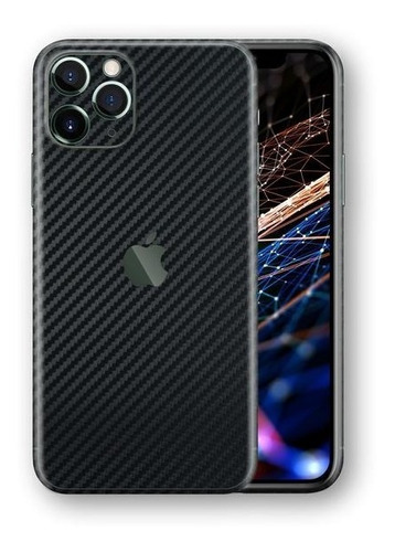 película skin iphone 11 pro max kingshield 3d fibra carbono