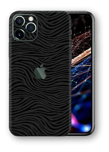 película skin iphone 11 pro max kingshield 3d - zebra