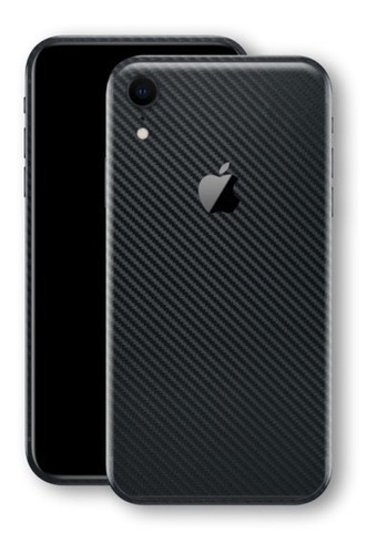 película skin iphone xr (6.1) kingshield 3d fibra carbono