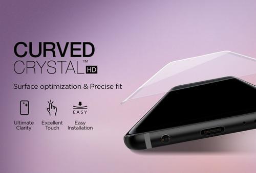 38f6ca1c34 Película Spigen Galaxy S9 Plus Curved Crystal Hd - Flexível - R  134 ...