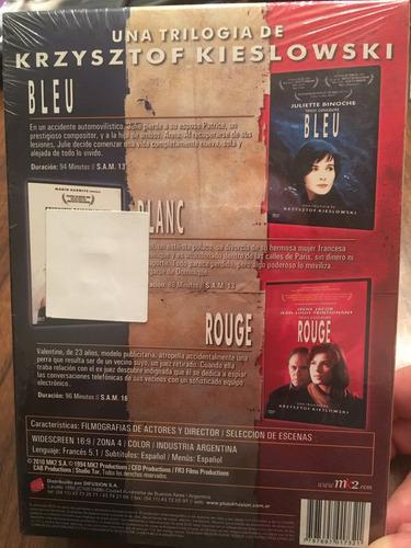 película. trilogía. bleu. blanc. rouge. original. sin abrir