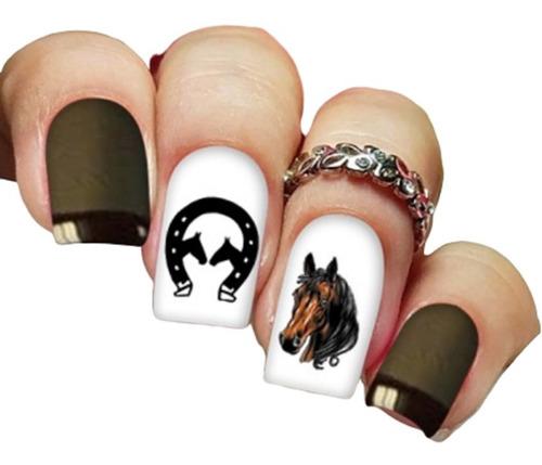 pelicula unha/adesivos unhas cavalo ferradura ct01