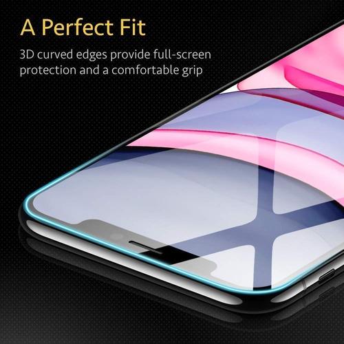 película vidro 3d iphone xs max 6.5 esr (2x unid) tela toda