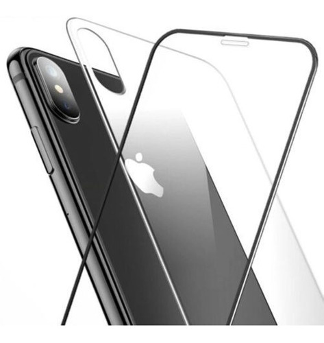 pelicula vidro 3d + traseria vidro iphone x 6 7 8 xs max xr