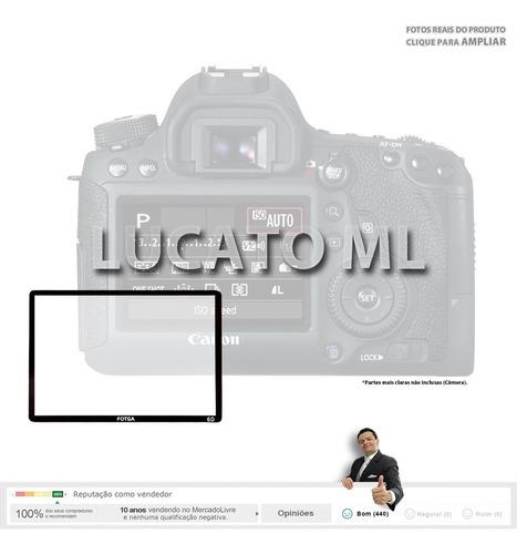 película vidro p/ canon 6d + protetor ocular e sapata | sj