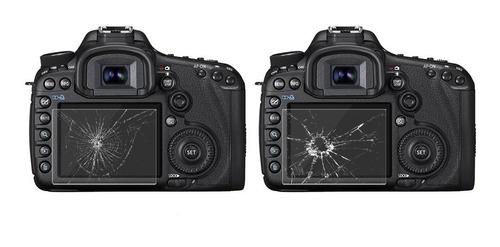 película vidro protetora lcd display canon t5 t6 rebel