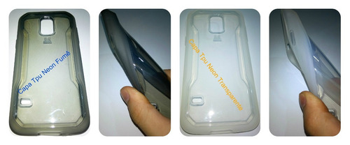 pelicula vidro temperado galaxy s5 mini g800 + capa tpu top