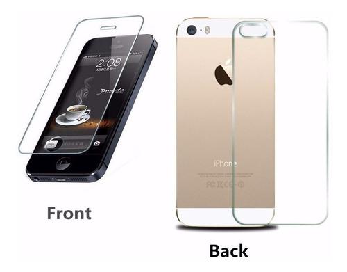 película vidro temperado iphone se frente e verso + capa tpu
