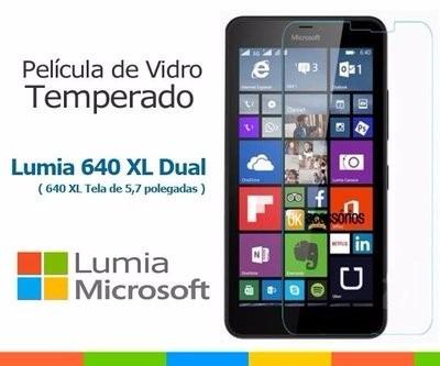 película vidro temperado microsoft nokia lumia 640xl