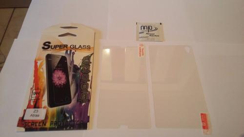 película vidro temperado sony xperia z3 d6633 frente & verso