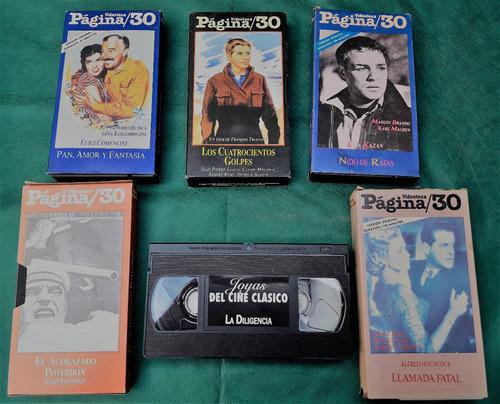 películas clásicas en vhs lote 16 videos oferta sin probar