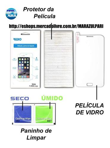 películas de vidro p/ microsoft nokia lumia 430 n430