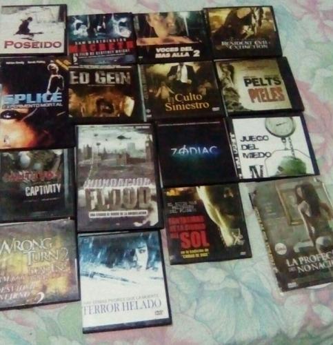 películas dvd miedo,terror, suspenso, gore,