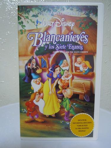 peliculas infantiles vhs, blancanieves, doblaje original