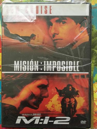 películas. misión: imposible 1 y 2 . original dvd.