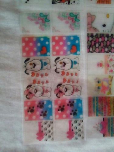 peliculas o stickers artesanales para uñas
