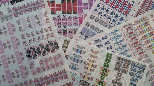 películas unhas gel impressas -700 cartelas 50 folhas