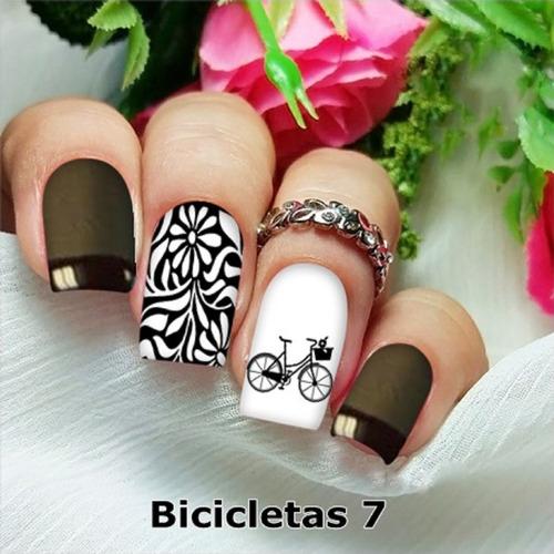 peliculas/adesivos unhas bike flores arabesco bi7