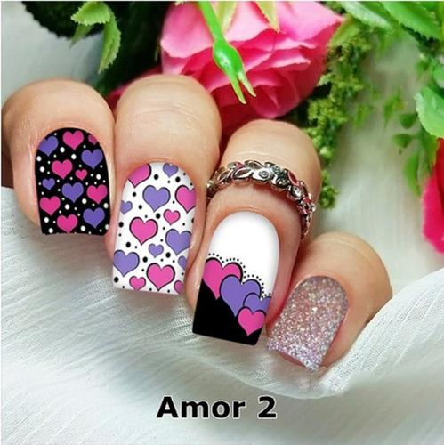 peliculas/adesivos unhas fé rosas pink rg13