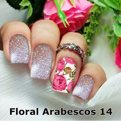peliculas/adesivos unhas girassóis e folhas fa56