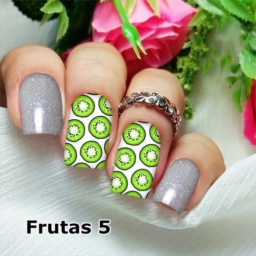 peliculas/adesivos unhas kiwi fundo branco fu5