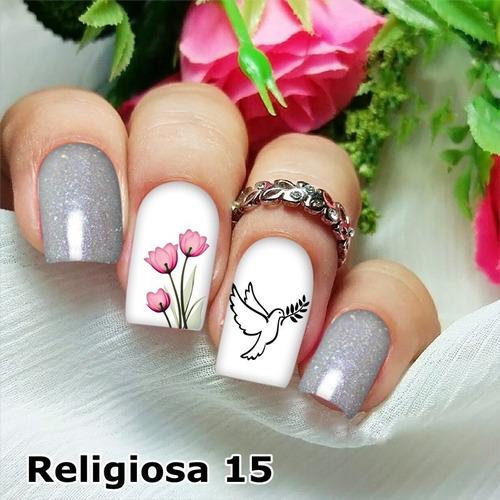 peliculas/adesivos unhas pombinha branca tulipa rg15
