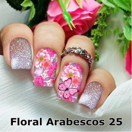 peliculas/adesivos unhas rosas telinha delicada fa8