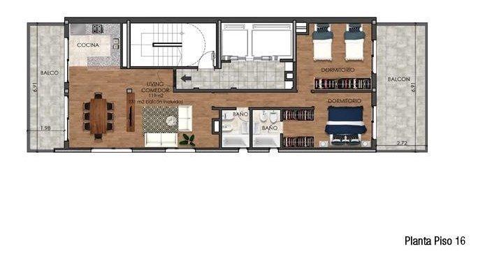 pellegrini 1267-departamento 1 dormitorio-piso 12 b-centro