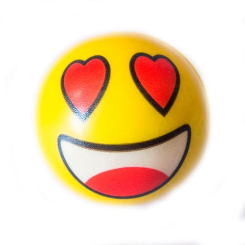 pelota adorno para antena de goma modelo emoji o emoticon 4