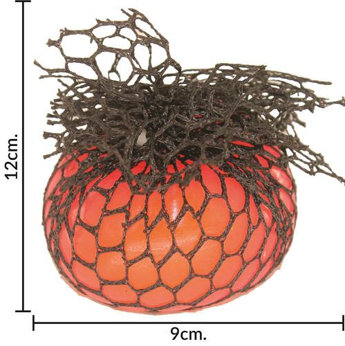 pelota amansaloco 7 cms en red colores fluo - el regalón