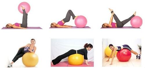 pelota balon pilates ejercicio gym ball gimnasio tonifica 75