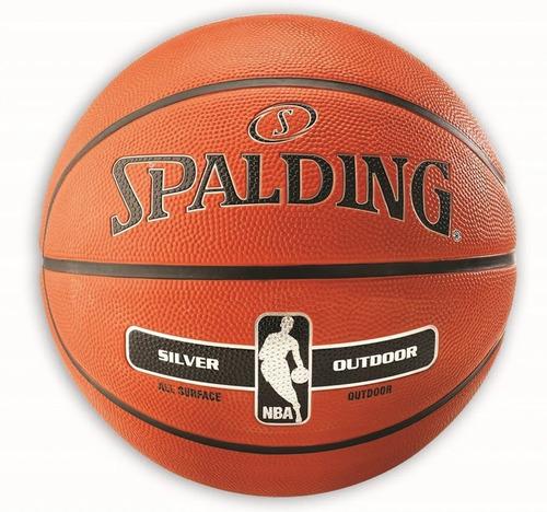 pelota basquet spalding silver nº 7 basket outdoor - olivos