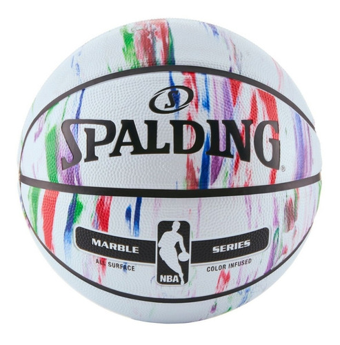 pelota basquet spalding unique marble nº 7 basket - olivos