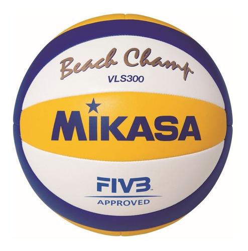 pelota beach volley mikasa vls300 oficial fivb voley cuero