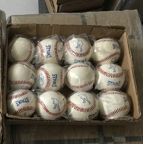 pelota beisbol strike piel caja docena strik 3 strik3.