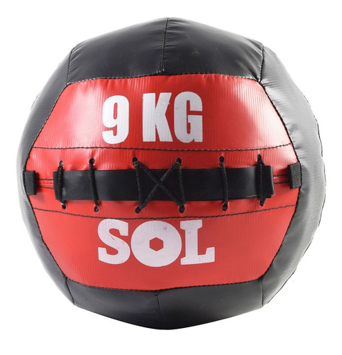 pelota con peso funcional medicine ball 9 kg sol fitness