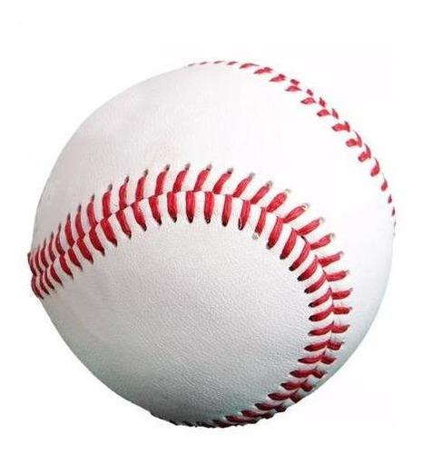 pelota de baseball maciza cosida c/ costura doble - el rey