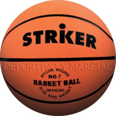 pelota de basquet n 7 striker basket goma vulcanizada basket