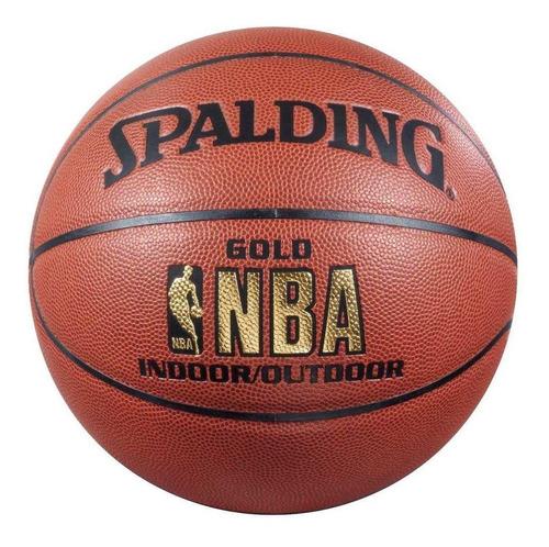 pelota de basquet spalding cuero gold indoor outdoor 7