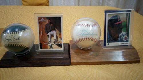 pelota de beisbol autografias con barajitas