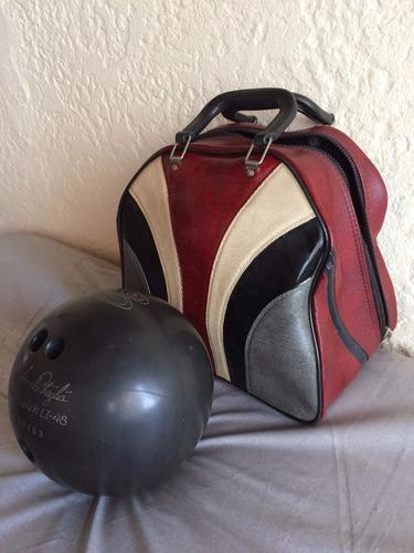 pelota de bowling brunswick 7 kilos con bolso maletín maleta