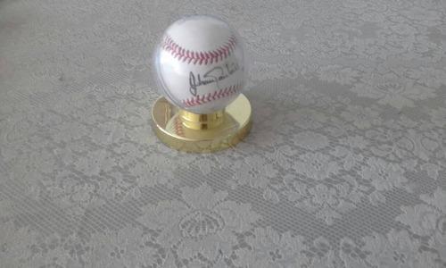 pelota de colección firmada por johan santana