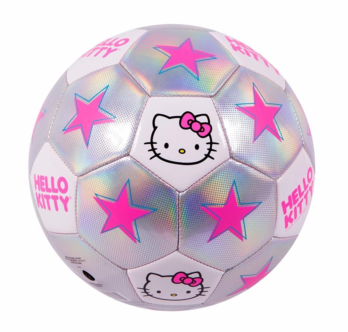 pelota de futbol marca hello kitty color gris con rosa. Cargando zoom. 7d0e0c92f9e4b