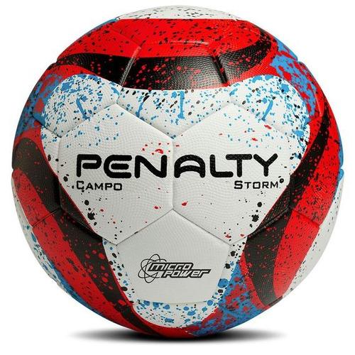 pelota de futbol penalty storm con costura rojo y azul