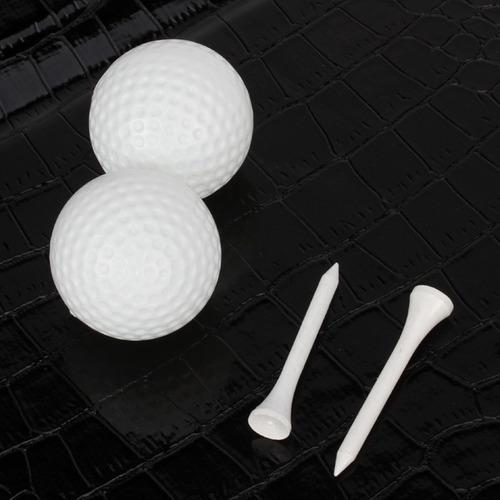 pelota de golf tee golfistas pro clip de la bolsa de cuero d